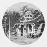 Gasolinera y vintage Missouri de las cabinas del t Etiqueta