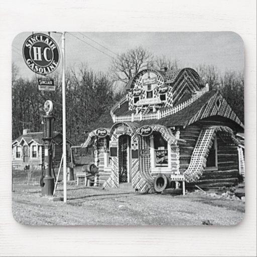 Gasolinera y vintage Missouri de las cabinas del t Alfombrilla De Ratón