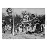 Gasolinera y vintage Missouri de las cabinas del t Tarjeton