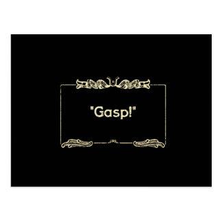 Gasp Silent Films Postcard