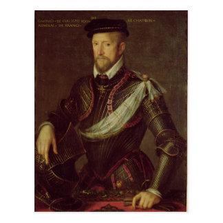 Gaspar II del almirante de Coligny de Francia Postales