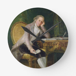 Gaspar Melchor de Jovellanos, 1797-98 (oil on canv Round Clock