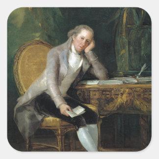 Gaspar Melchor de Jovellanos by Francisco Goya Square Sticker