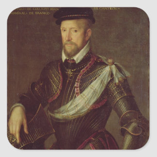 Gaspard II of Coligny  Admiral of France Square Sticker