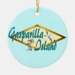 Gasparilla Island Florida beach design Christmas Ornaments
