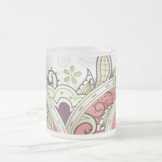 Gaspby 20's Paisley Frosted Glass Coffee Mug