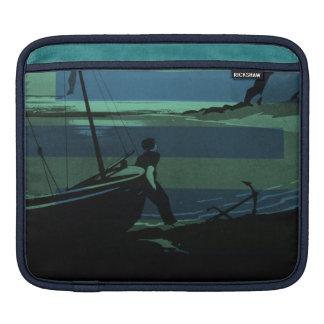 Gaspe Peninsula Canada Quebec Nautical Sailboat iPad Sleeve
