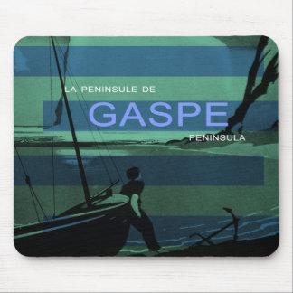 Gaspe Peninsula Canada Quebec Nautical Sailboat Mouse Pad
