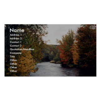 Gaspereau River, Nova Scotia, Canada at the Cornis Double-Sided Standard Business Cards (Pack Of 100)