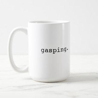 Gasping - British slang Classic White Coffee Mug