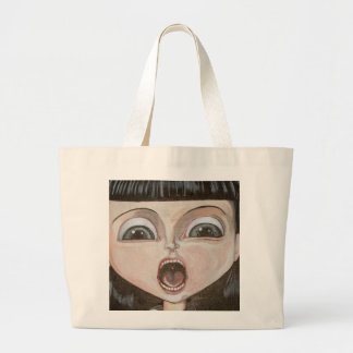 Gasping Muse Large Tote Bag