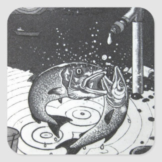 Gaspingfish Sticker