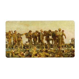Gassed by John Singer Sargent World War I Label