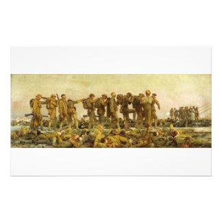 Gassed by John Singer Sargent World War I Stationery