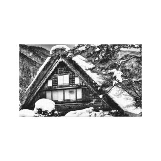 Gassho-Zukuri (Traditional Japanese House) Canvas Print