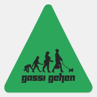 Gassi gehen triangle sticker