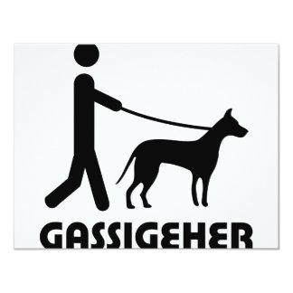 Gassigeher dog walker hund 4.25x5.5 paper invitation card