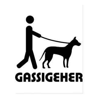 Gassigeher dog walker hund postcard
