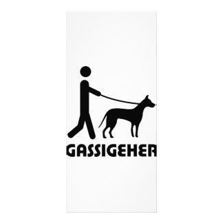 Gassigeher dog walker hund rack cards
