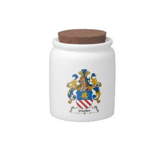 Gassler Family Crest Candy Jars