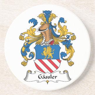 Gassler Family Crest Drink Coaster