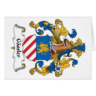 Gassler Family Crest Greeting Card