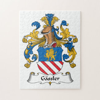 Gassler Family Crest Jigsaw Puzzle