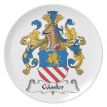 Gassler Family Crest Party Plates