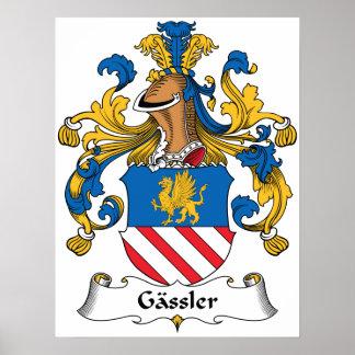 Gassler Family Crest Poster