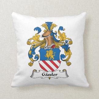 Gassler Family Crest Throw Pillow