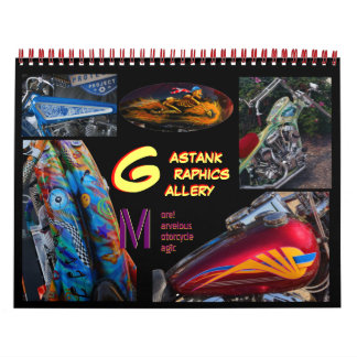 Gastank Graphics Motorcycle paint art Calendar