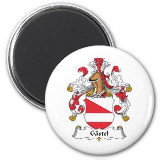 Gastel Family Crest 2 Inch Round Magnet