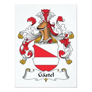Gastel Family Crest 6.5x8.75 Paper Invitation Card