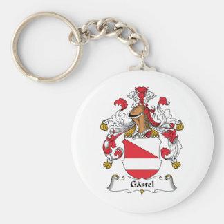Gastel Family Crest Basic Round Button Keychain