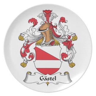 Gastel Family Crest Dinner Plates