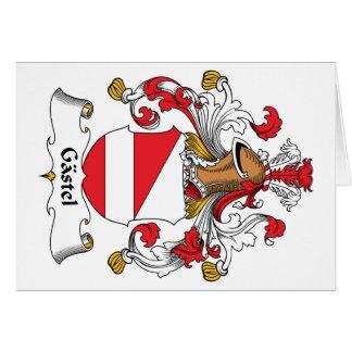 Gastel Family Crest Greeting Card