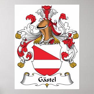 Gastel Family Crest Poster