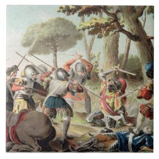 Gaston de Foix (1488-1512) Slain at the Battle of Ceramic Tile