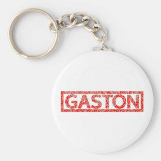 Gaston Stamp Keychain