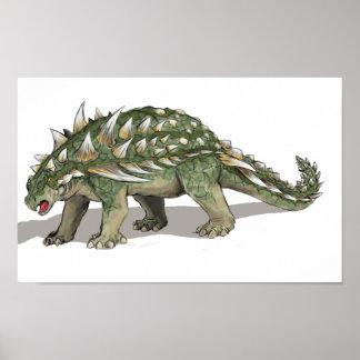 Gastonia burgei - Cretaceous Dinosaur Poster
