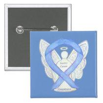 Gastric Cancer Angel Awareness Ribbon Art Pin