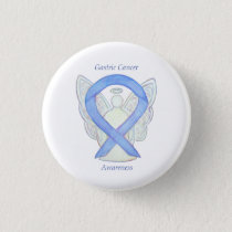 Gastric Cancer Angel Awareness Ribbon Art Pin