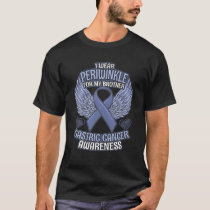 Gastric Cancer Awareness Brother Support Periwinkl T-Shirt
