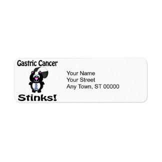 Gastric Cancer Stinks Skunk Awareness Design Label