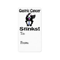Gastric Cancer Stinks Skunk Awareness Design Label