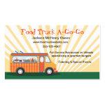 Gastro tarjetas de visita del camión de la comida