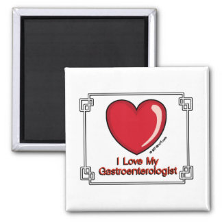 Gastroenterologist 2 Inch Square Magnet