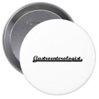 Gastroenterologist Classic Job Design 4 Inch Round Button