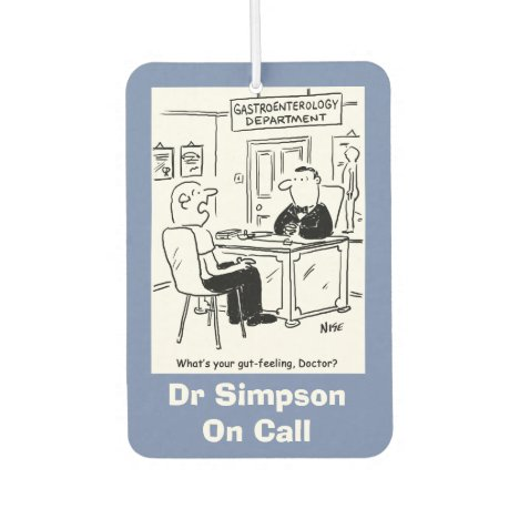 Gastroenterology Cartoon Car Air Freshener