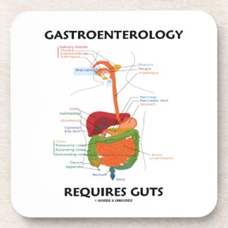 Gastroenterology Requires Guts (Digestive System) Drink Coasters